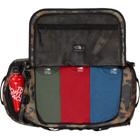 The North Face Base Camp Duffel L new taupe green macrofleck camo print/tnf black